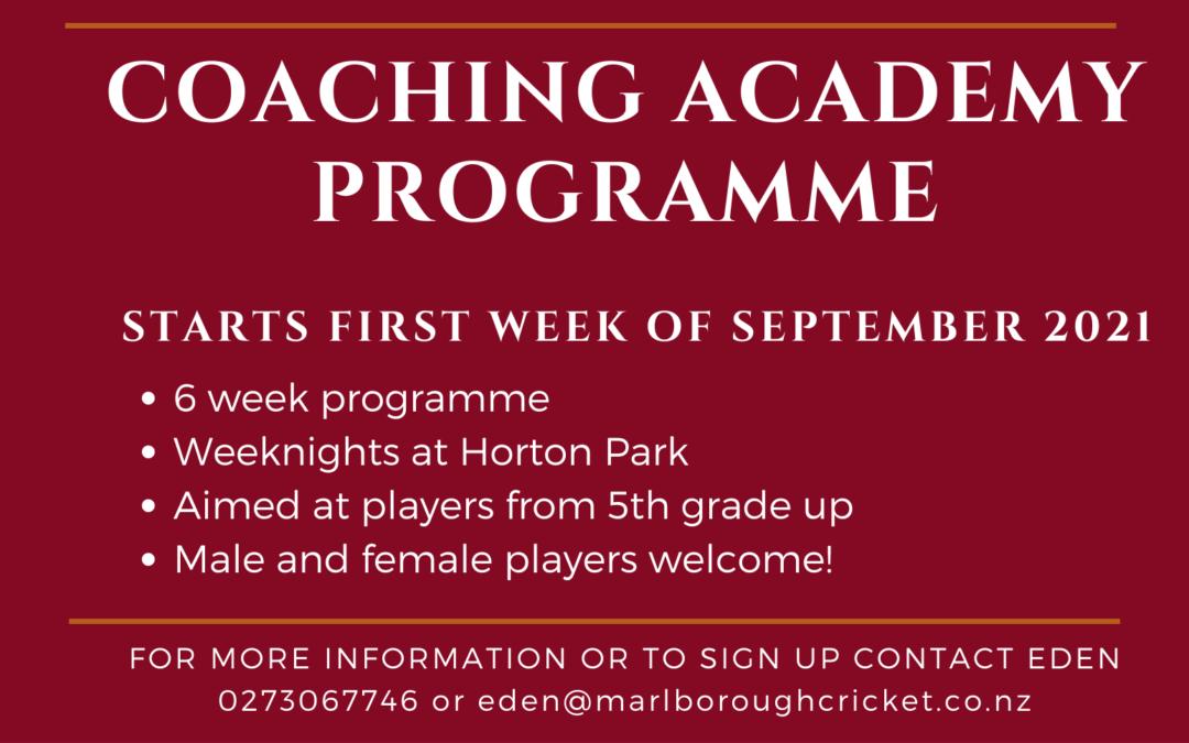 Coaching Academy Programme